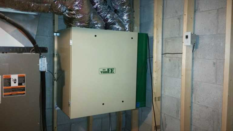 Replaced VanEE Air Exchanger