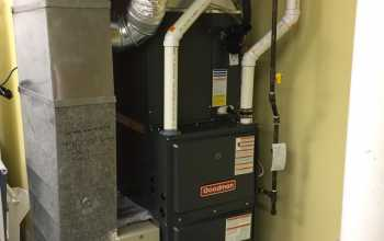 gas furnace installed in the house